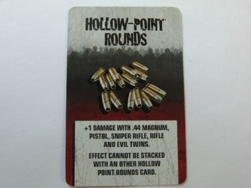 survivor equipment card (hollow point rounds)